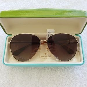 kate spade Carolane aviator brown sunglasses